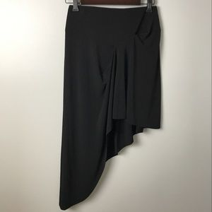 BCBG Generation Black Asymmetrical Skirt